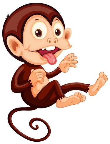 Eine verspielte Affenfigur