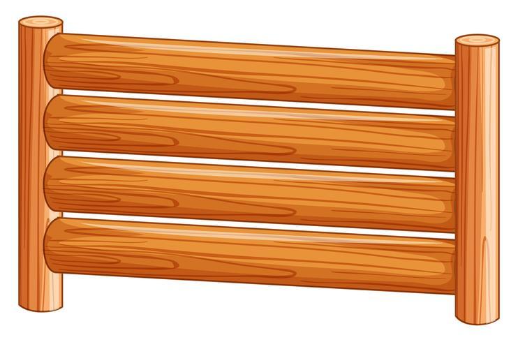 Ein Holzzaun auf weißem Hintergrund