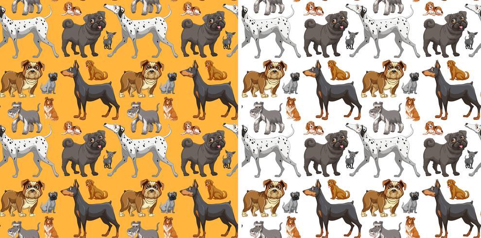 Design senza cuciture con cani carini