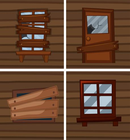 Different conditions of windows