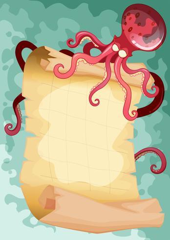 Border design med bläckfisk