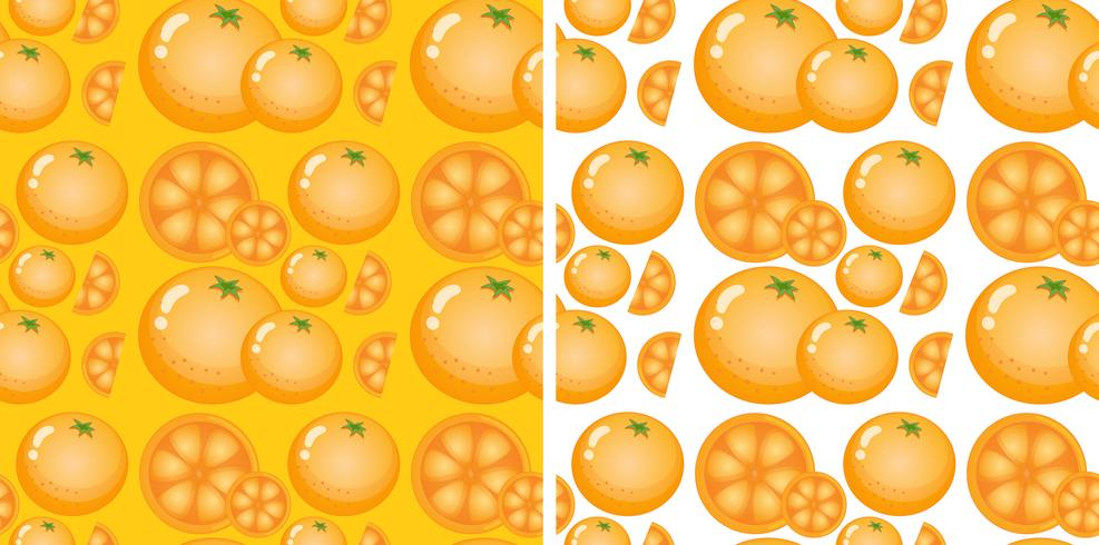Projeto de plano de fundo sem emenda com laranjas
