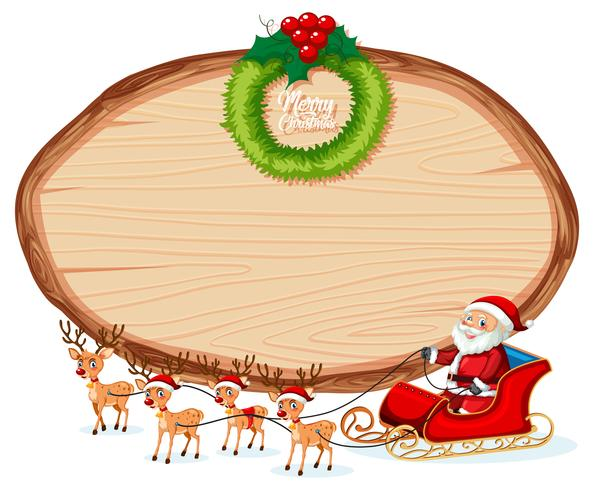 Wooden banner christmas theme