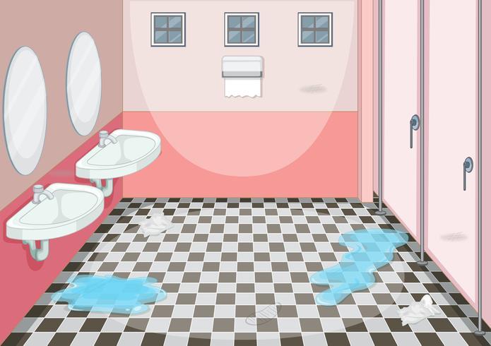 Diseño interior del baño femenino. vector