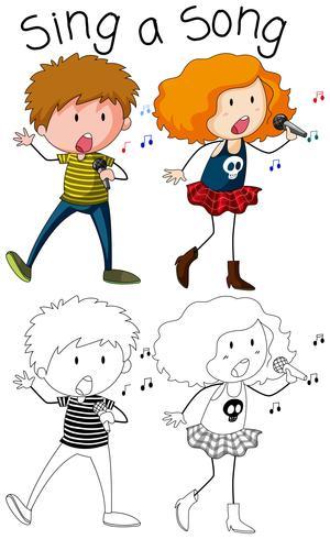 Doodle, chanteur et chanteuse