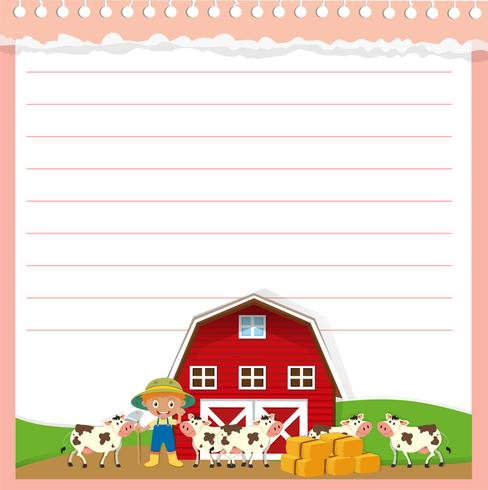 Disegno di carta con tema agricolo
