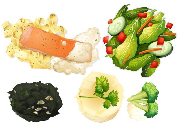 Set von gesunden Lebensmitteln