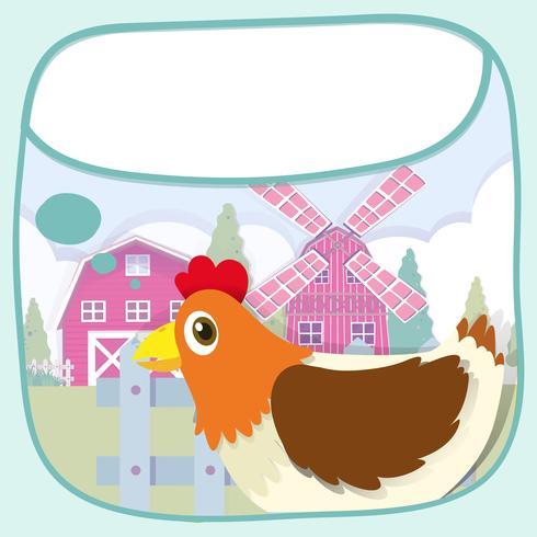 Conception de la frontière avec le poulet et le moulin