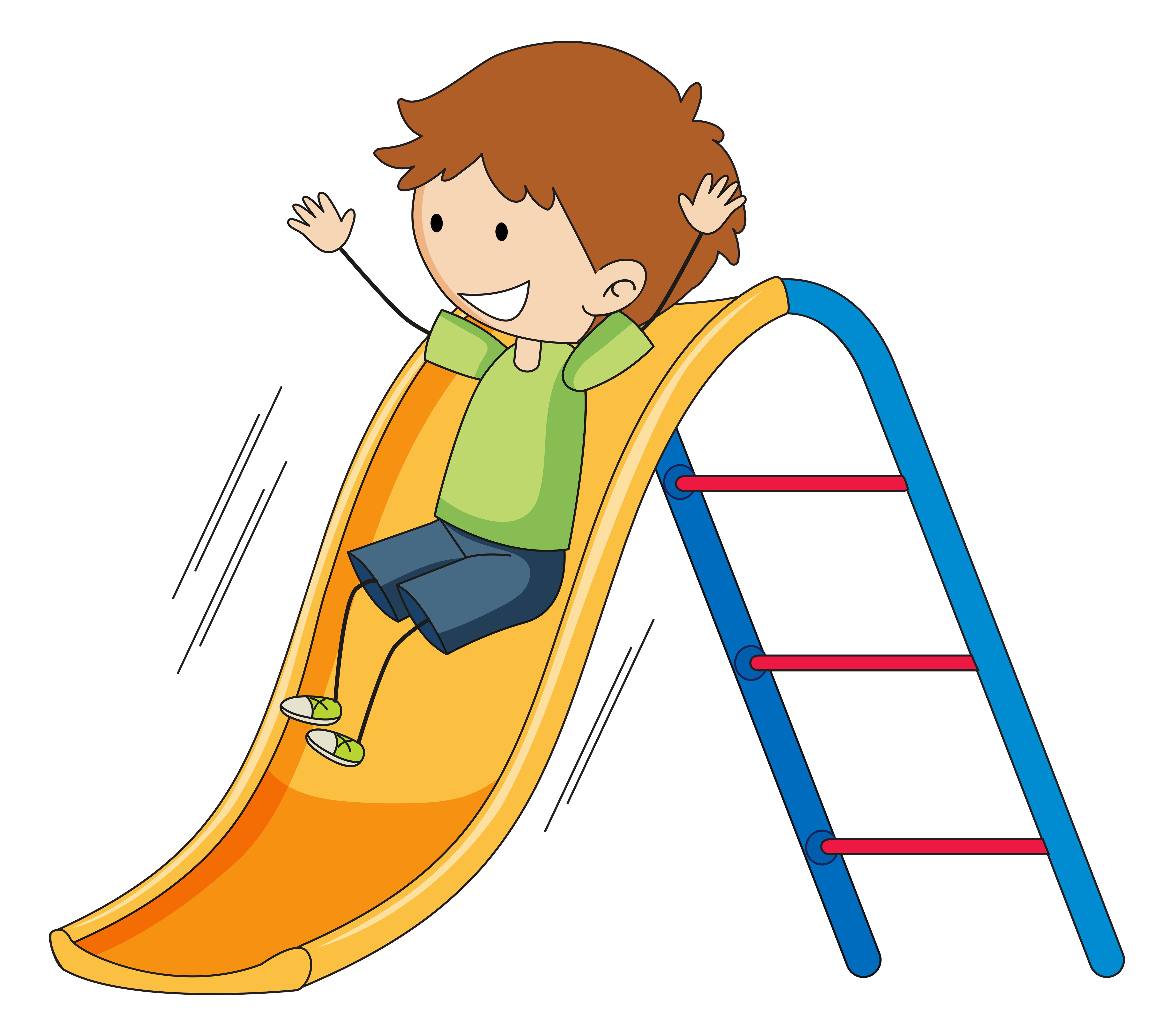Doodle boy playing slide - Download Free Vectors, Clipart ...
