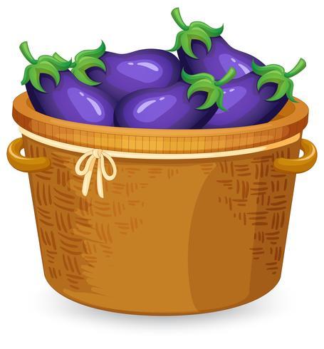 A basket of eggplant