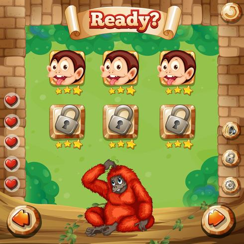 Game template with monkey background