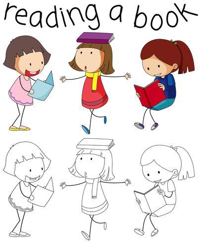 Mädchen- und Buchcharakter
