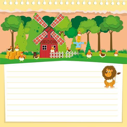 Design di carta con tema di fattoria