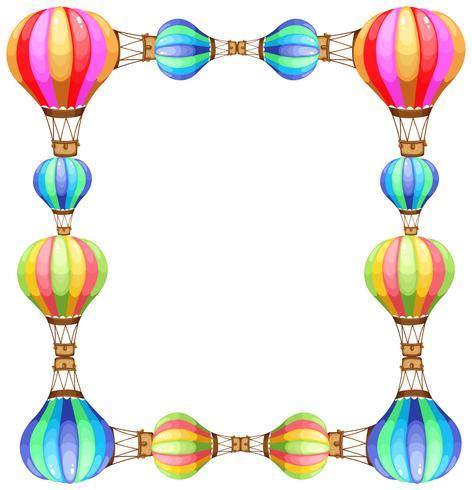 Modelo de quadro com balões