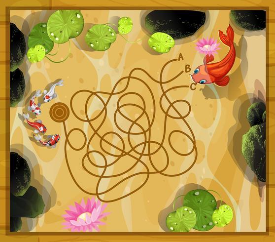 Modelo de jogo com dois peixes na lagoa