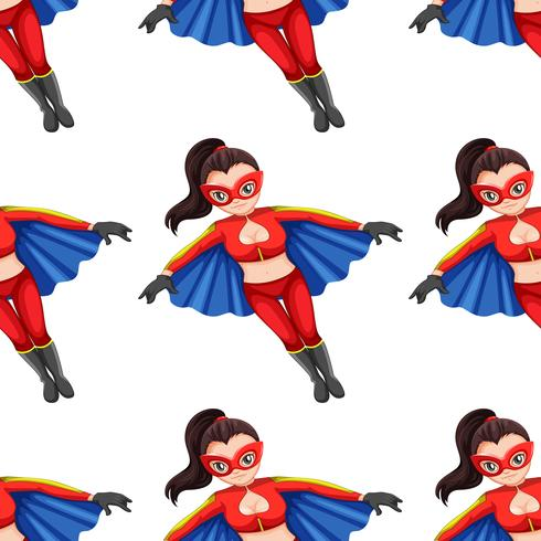 Modello senza cuciture donna super eroe