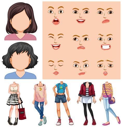Chicas con cara y chico diferentes.