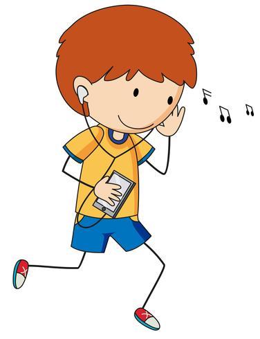 Un chico del doodle enlistado a la música