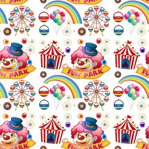 Naadloze clown en circusritten