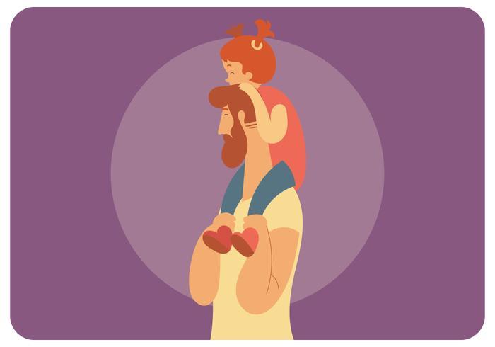 Vaderdag illustratie Vector