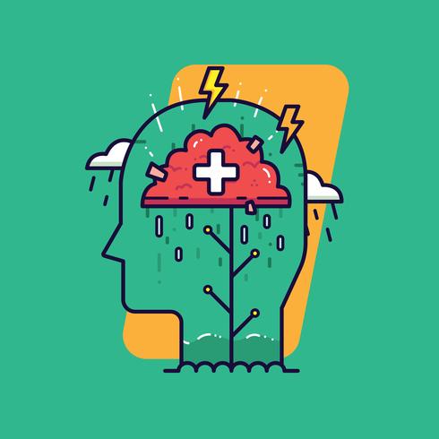 Vector de salud mental