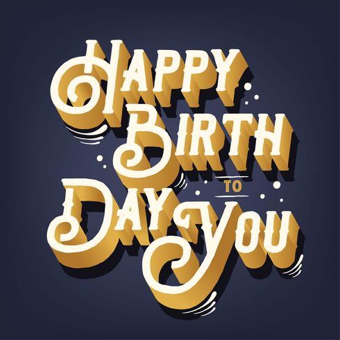 Diseño del vector feliz cumpleaños