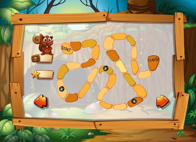 Juego de puzzle con tema de jungla.