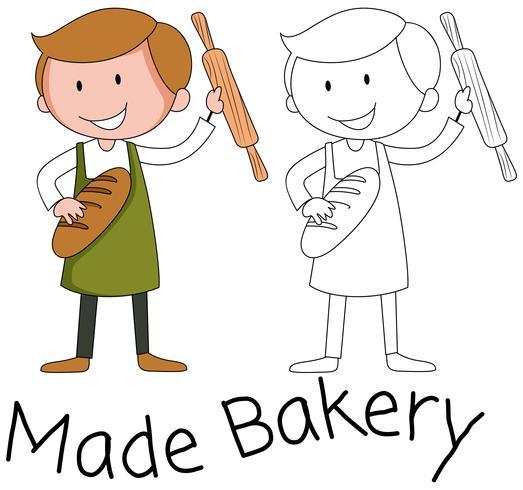 Bäckermannzeichen auf weißem Hintergrund