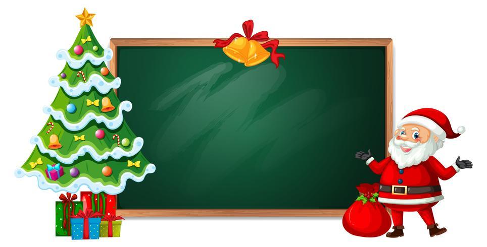 Christmas on blackboard banner