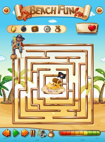 juego de puzzle pirata playa laberinto