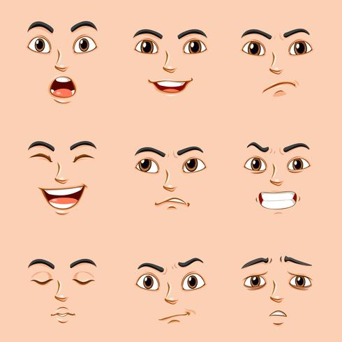 Different Facial Expressions Of Human Download Free Vectors Clipart Graphics Vector Art