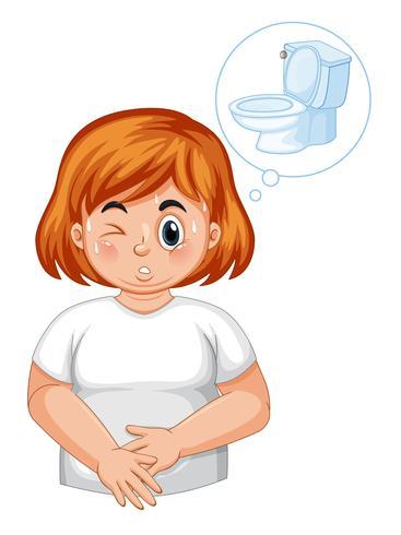 Meisje met diabetes frequent urineren