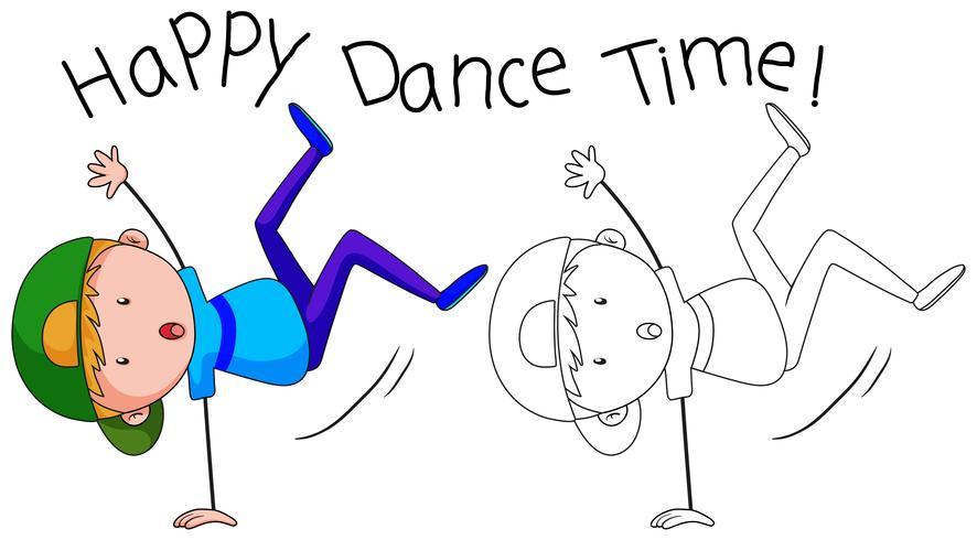 Doodle chico de la calle bailando