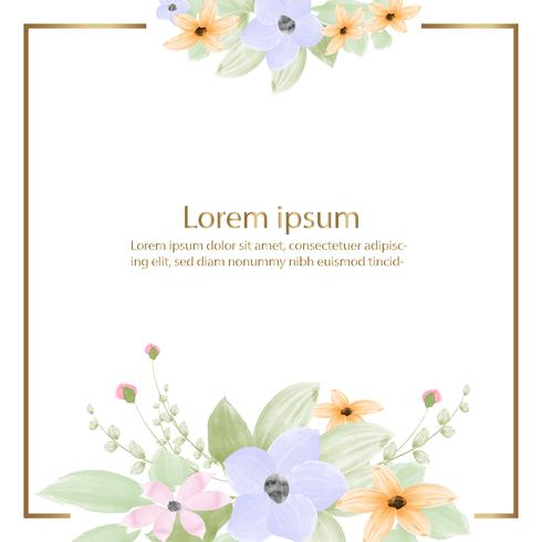 aquarelle de belle fleur fleur et fond de cadre ou de bannière