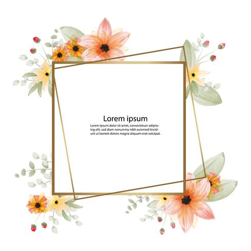 linda flor flor aquarela pintura e quadro ou banner fundo vetor