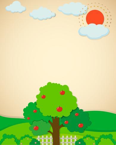 Alberi di mele in giardino