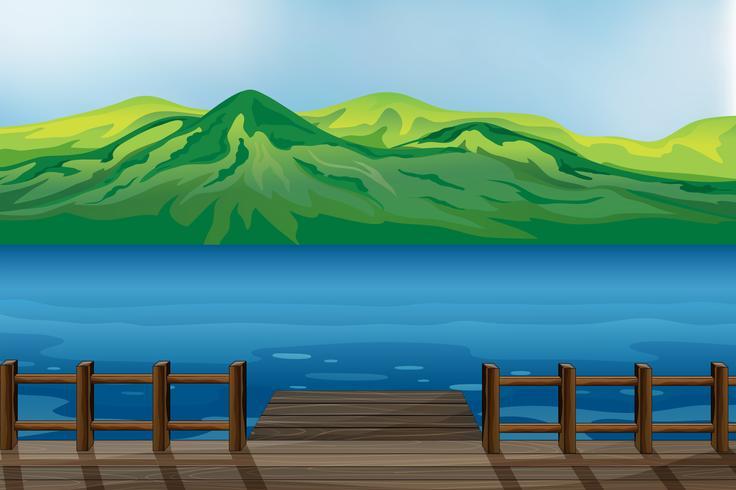 Ein blaues ruhiges Meer