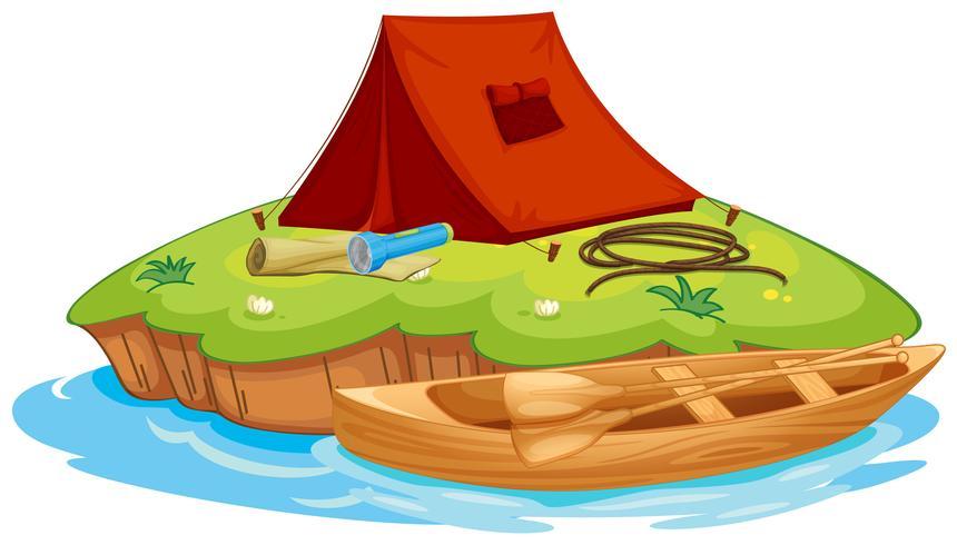 vaious föremål för camping och kanot