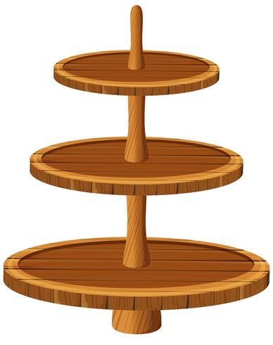 Três tamanhos de bandeja de madeira