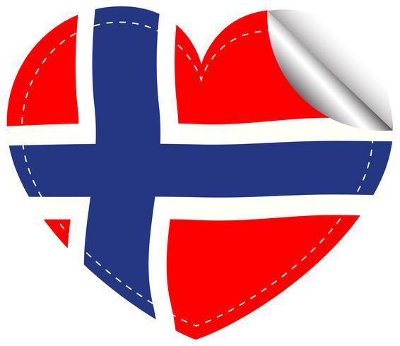 Aufkleberentwurf für Flagge von Norwegen