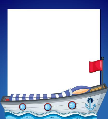 Eine leere Vorlage mit einem Schiff