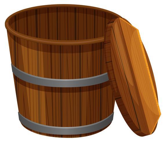 balde de madeira com tampa