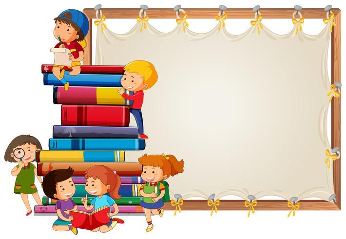 Children on wooden board