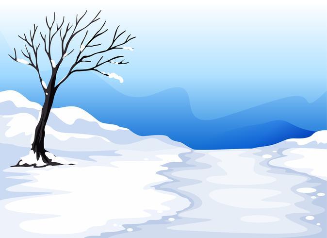 landlandschap met ijs
