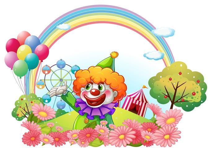 Ein Clown in einem Vergnügungspark