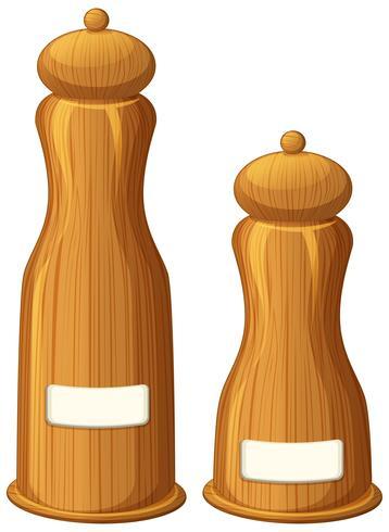 Peper en zout shakers gemaakt van hout