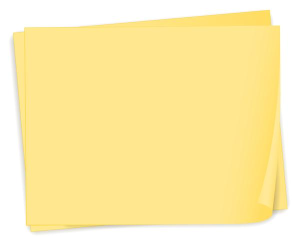 An empty yellow paper template