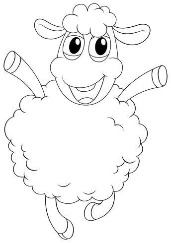 Contorno animal para oveja