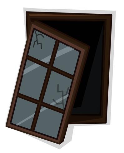 Holzfenster mit schlechtem Zustand