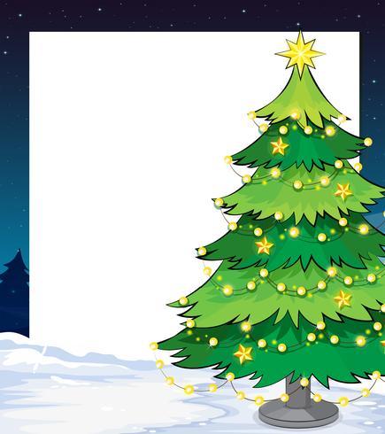 Un modèle de Noël vide avec un sapin de Noël